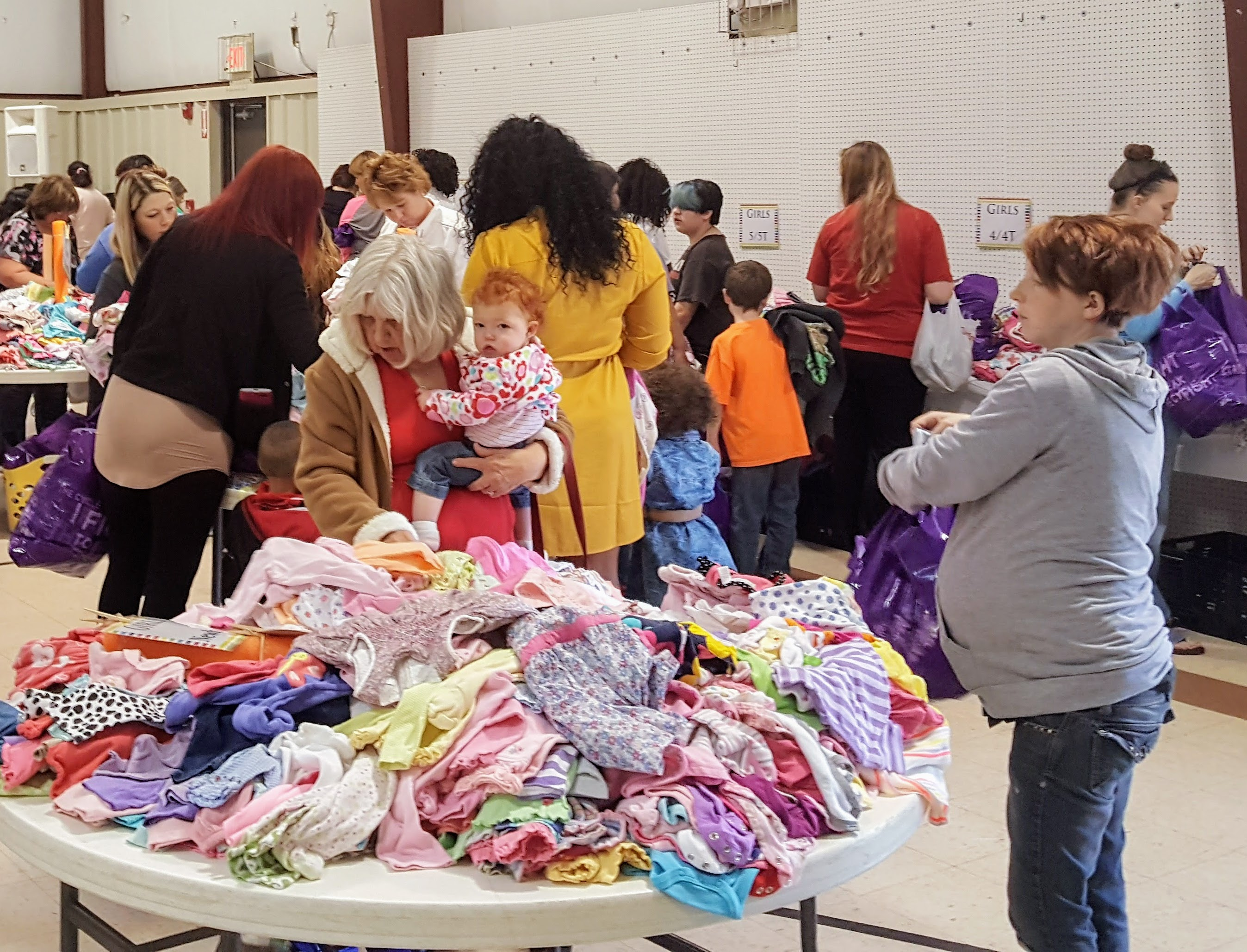 Kids clothes giveaway