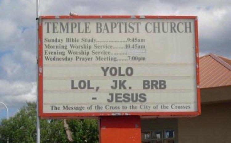 Genius church signs